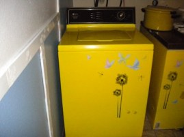 totally painted washer with decals
